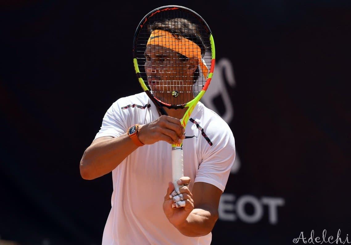 Rafa Nadal torna ad allenarsi in vista del cemento e Roland Garros