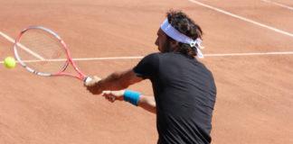 giorno partita tennis palleggio riscaldamento studio avversario