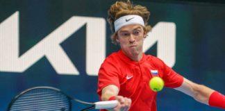 ATP Cup 2021 finale russia italia andrey rublev fabio fognini