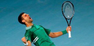 Australian Open 2021 Novak Djokovic Milos Raonic